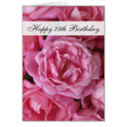 75th Birthday Card - Roses for 75 Year