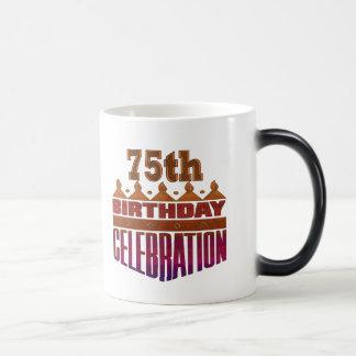 75th Birthday Celebration Gifts Morphing Mug