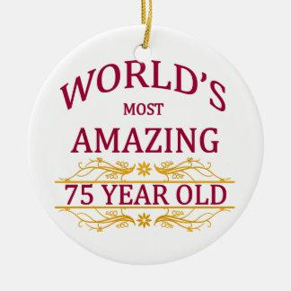 75th. Birthday Christmas Ornament