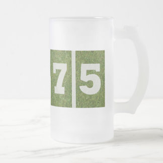 75th Birthday Glass Mug