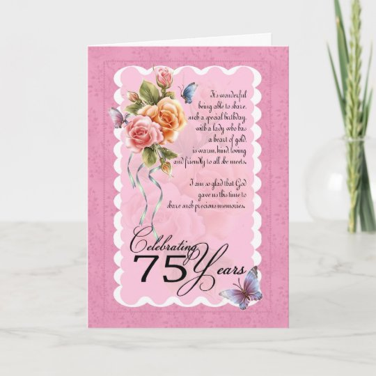 75th Birthday Greeting Card