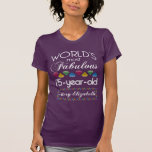75th Birthday Most Fabulous Colourful Gems Purple T-Shirt