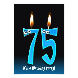 75th Birthday Party 13 Cm X 18 Cm Invitation Card
