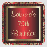 75th Birthday Party | DIY Text Square Sticker