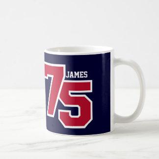 75th Birthday RED and BLUE V012B Coffee Mug
