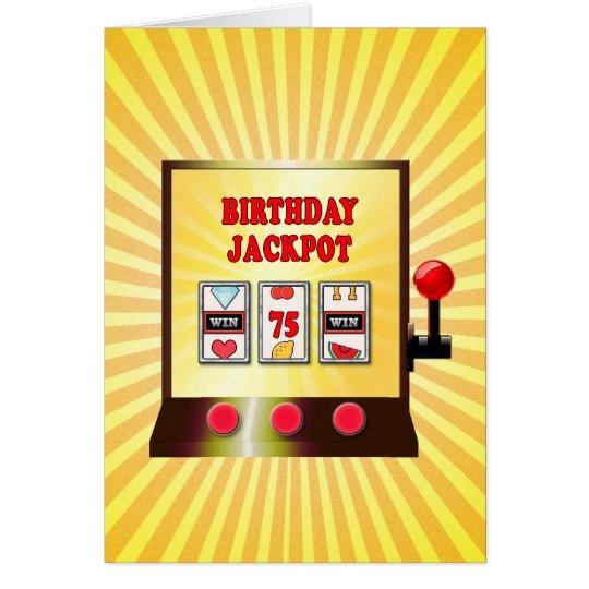 75th birthday slot machine card