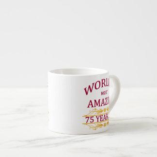 75th. Birthday Espresso Cup