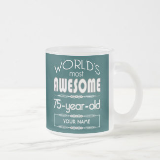 75th Birthday Worlds Best Fabulous Dark Green Coffee Mug