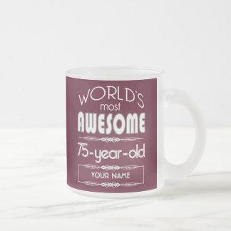 75th Birthday Worlds Best Fabulous Dark Red Mugs