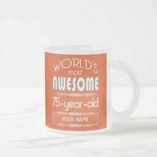 75th Birthday Worlds Best Fabulous Flame Orange Mug