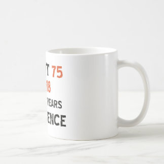 75th cool birthday designs basic white mug