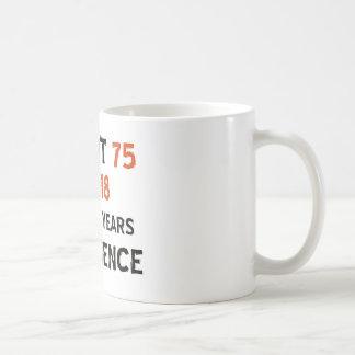 75th cool birthday designs coffee mugs
