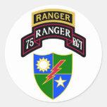 75th Infantry Ranger Regiment Scroll Round Sticker