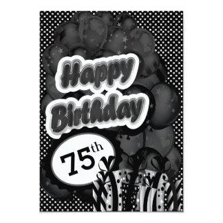 75th Milestone Birthday 13 Cm X 18 Cm Invitation Card