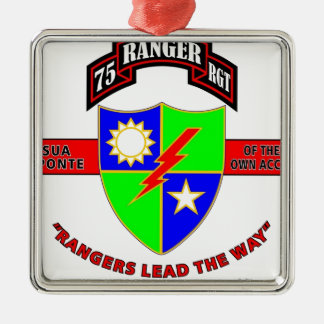 "75TH RANGER BATTALION ""ARMY RANGERS"" CHRISTMAS ORNAMENT"