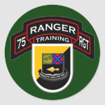 75th Ranger Regiment - Airborne - Training 1 Round Stickers