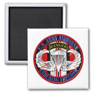 75th Ranger Regiment OEF Airborne Square Magnet