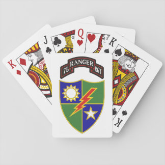 75th Ranger Regiment Playing Cards