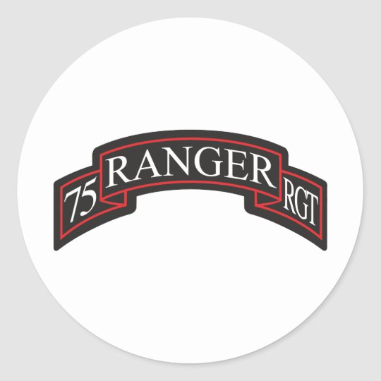 75th Ranger Regiment Scroll Round Sticker