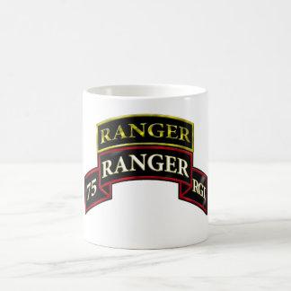 75th Ranger w/Tab Basic White Mug