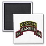 75th Ranger w/Tab Square Magnet