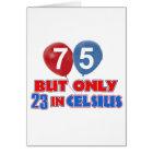 75th year old birthday designs card