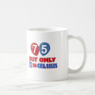 75th year old birthday designs coffee mug