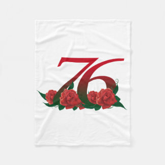 76 birthday anniversary number Blanket