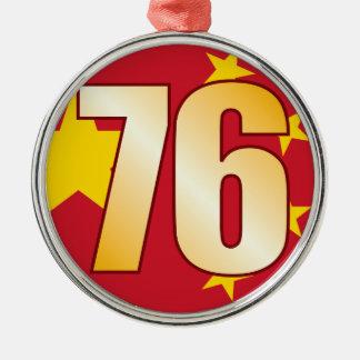 76 CHINA Gold Christmas Ornament