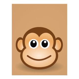 76-Free-Cute-Cartoon-Monkey-Clipart-Illustration 21.5 Cm X 28 Cm Flyer