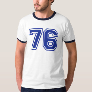 76 - number t-shirt