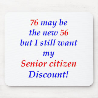 76 Senior Citizen Mouse Mat