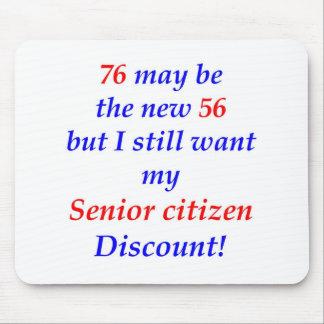 76 Senior Citizen Mouse Pad