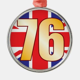 76 UK Gold Christmas Ornament