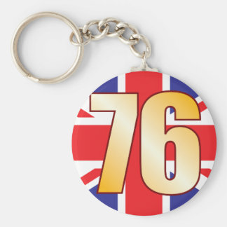 76 UK Gold Key Ring
