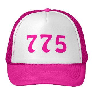 775 Area Code Neon Pink Hats