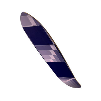7777777 Pink and Blue Checkered Flag GT 500 R Custom Skateboard