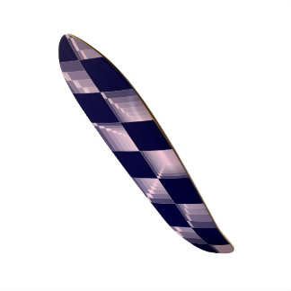 7777777 Pink and Blue Checkered Flag GT 500 Custom Skate Board