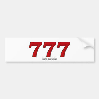 777 BUMPER STICKERS
