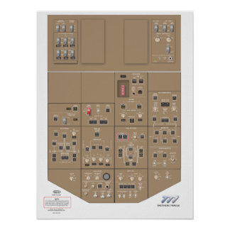 777 Overhead Panel Poster