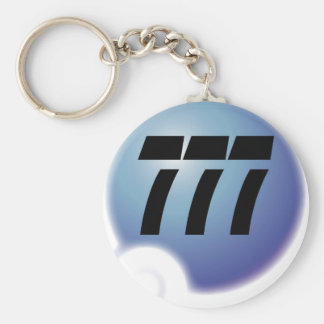 777 sur bulle basic round button key ring