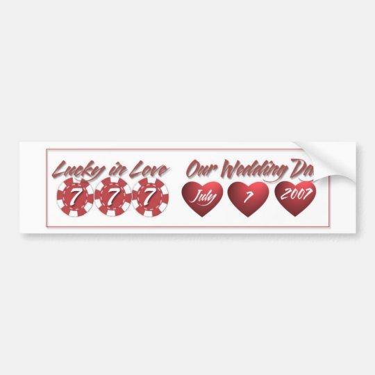 777 Wedding Bumper Sticker