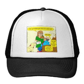 779 grandson peirced ears cartoon cap