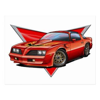 77-78 Red Firebird TA Postcard