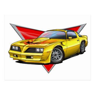 77-78 Yellow Firebird TA Postcard