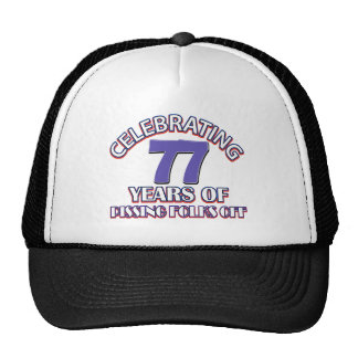 77 birthday Designs Hat