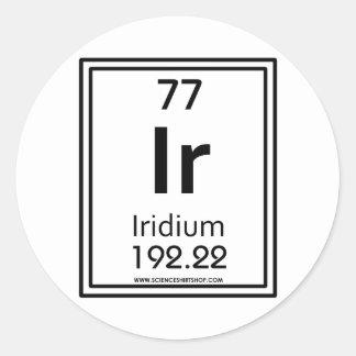 77 Iridium Round Sticker