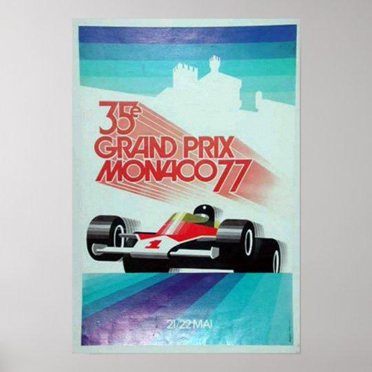 77 monico grand prix advertisement poster