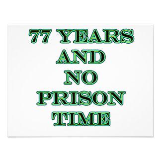 77 No prison time Personalized Invite