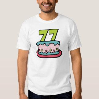 77 Year Old Birthday Cake Tee Shirt